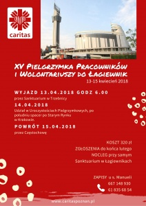 Kwietniowa pielgrzymka pracowników i wolontariuszy do Łagiewnik