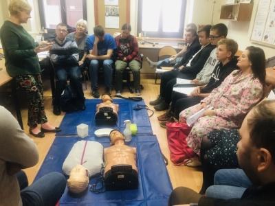 Wolontariusze z Centrum Wolontariatu odbyli szkolenie z pierwszej pomocy