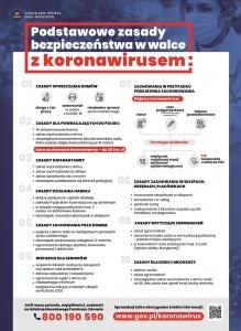 Podstawowe zasady w walce z koronawirusem