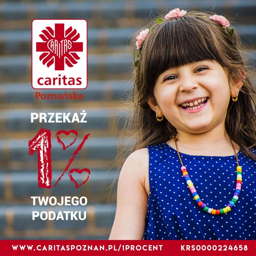 Reklama boczna 1% Caritas Poznańska